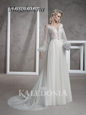 Suknia ślubna model Magdalena przód