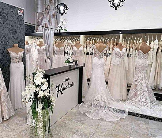 Wnętrze salon sukien ślubnych w Nowym Sączu